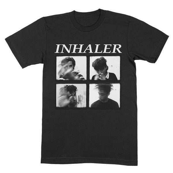 Black 4 Panel Photo T-Shirt