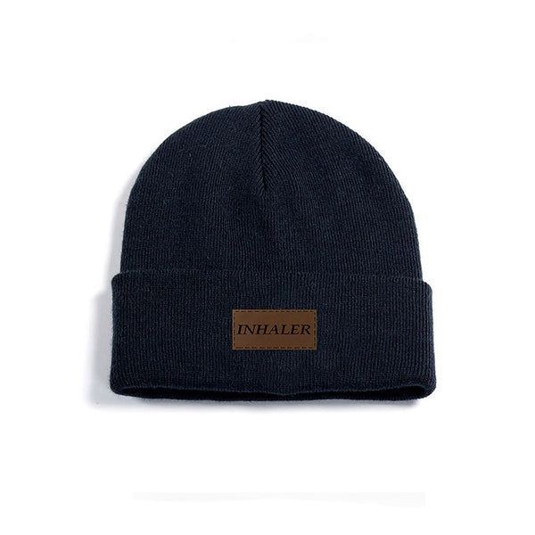French Navy Patch Beanie Hat