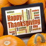Happy Thanksgiving within frame