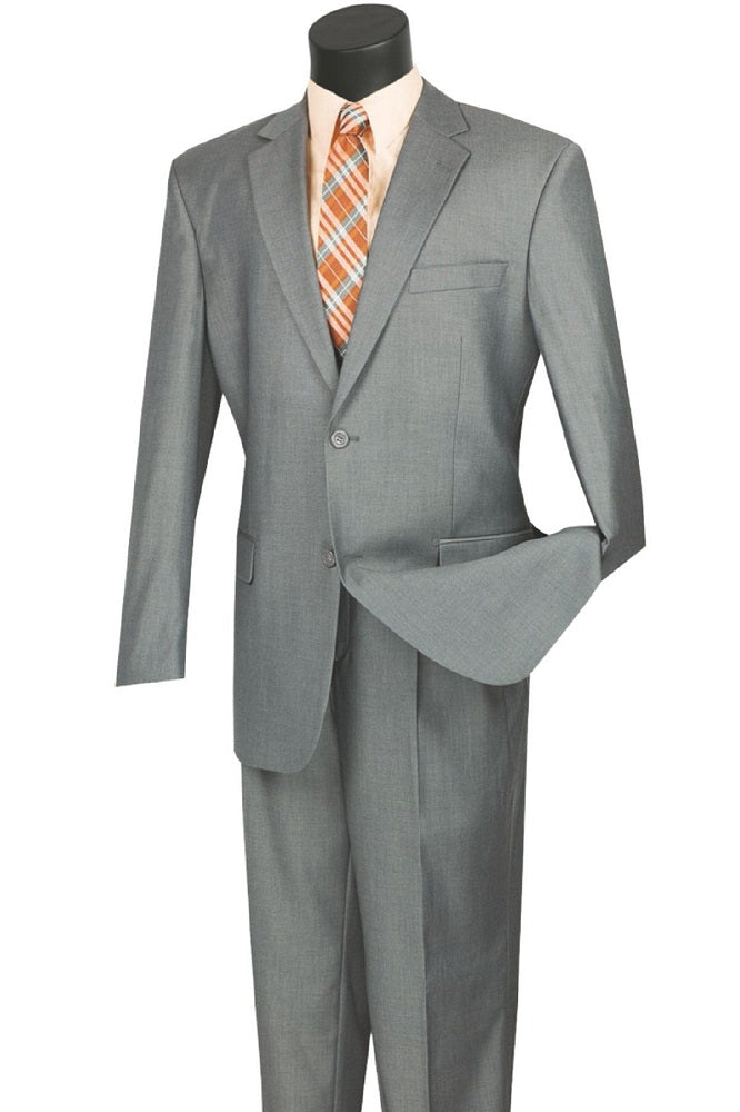 Formal Gray Suit for Men with Pleated Pants 2 Piece 2TR