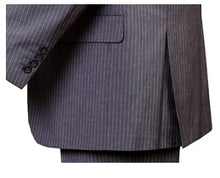 Load image into Gallery viewer, Men's 3 Piece Gray Narrow Pinstripe Suit Regular Fit Fortini 5702V8