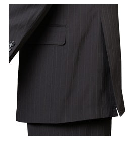 Men's Black Striped Double Breasted Suit Fortini 5911