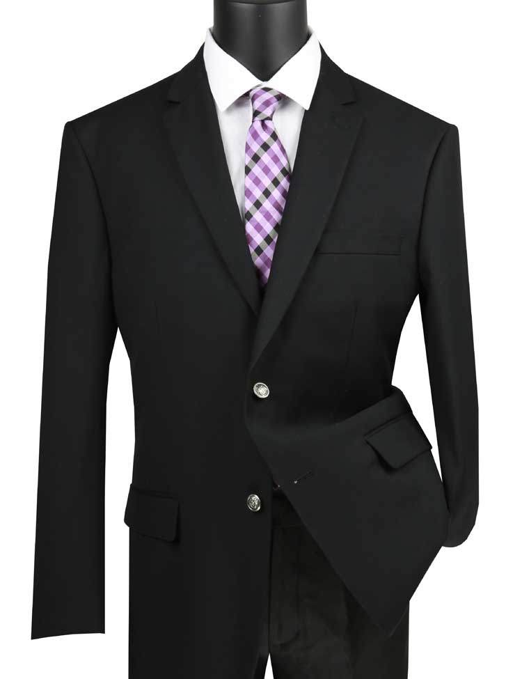Black Sport Coat for Men Metal Button Classic Blazer Vinci B-TR
