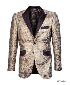 Empire Men's Gold Brown Shiny Tuxedo Jacket Fashion Blazer ME320H-02