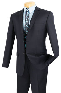 Slim Fit Suit Men's Navy Blue Solid Color SC900-12