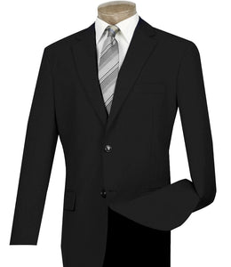 Men's Black Classic Blazer 2 Button Regular Fit Z-2PP