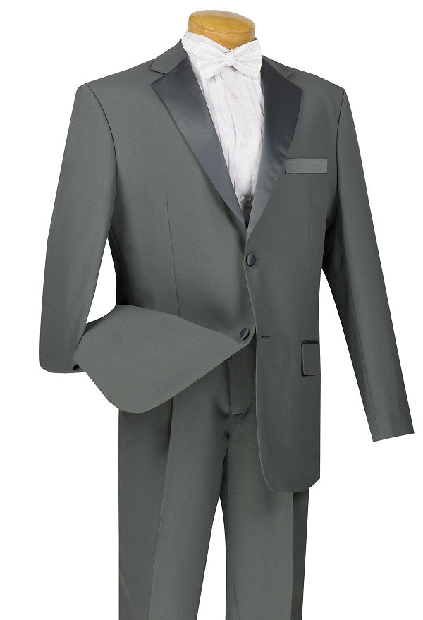 Men's Gray Basic Tuxedo 2 Button 2 Piece T-2PP