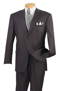 Men's Heather Gray Suit with Flat Front Pants Vinci 2C900-2