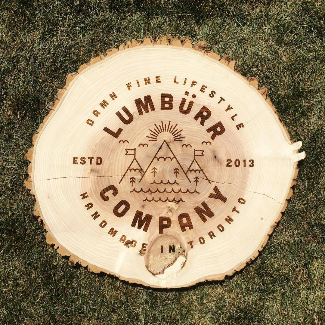 Lumbürr Co wooden sign