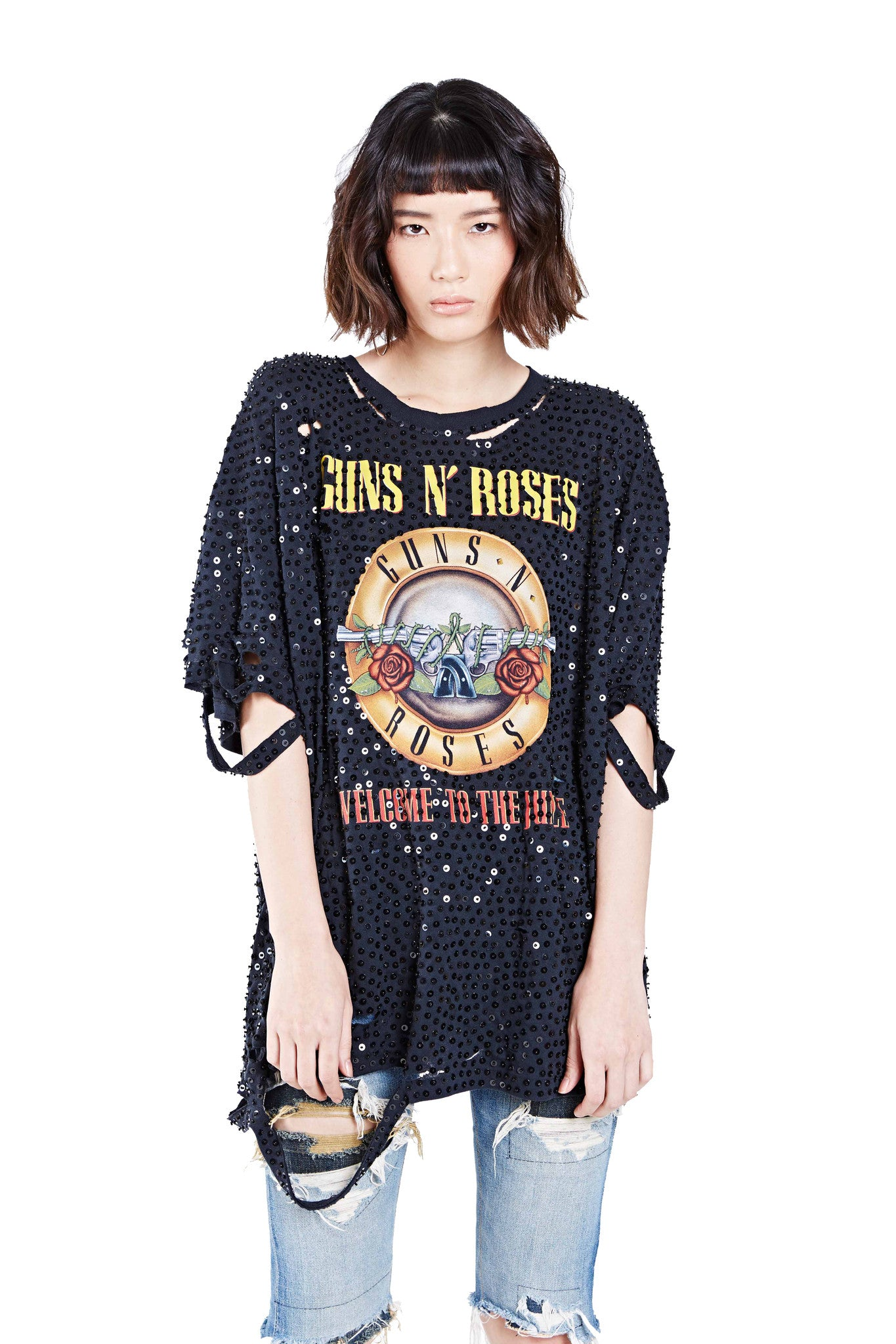 "Guns N Roses ""Welcome to the Jungle"" Shred Tee"