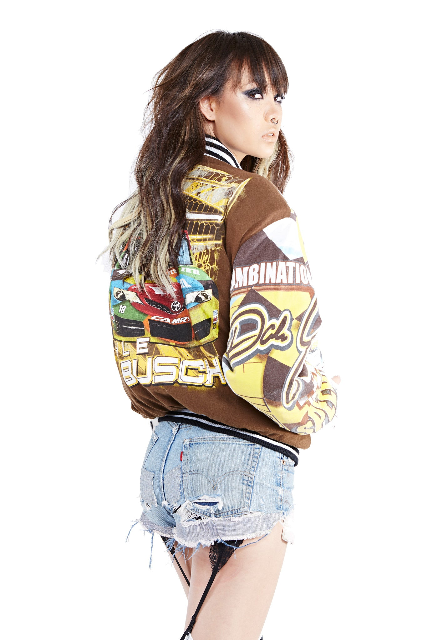 Hybrid Racing Bomber Jacket - 88 Daytona - I LOVE DIY by Panida
