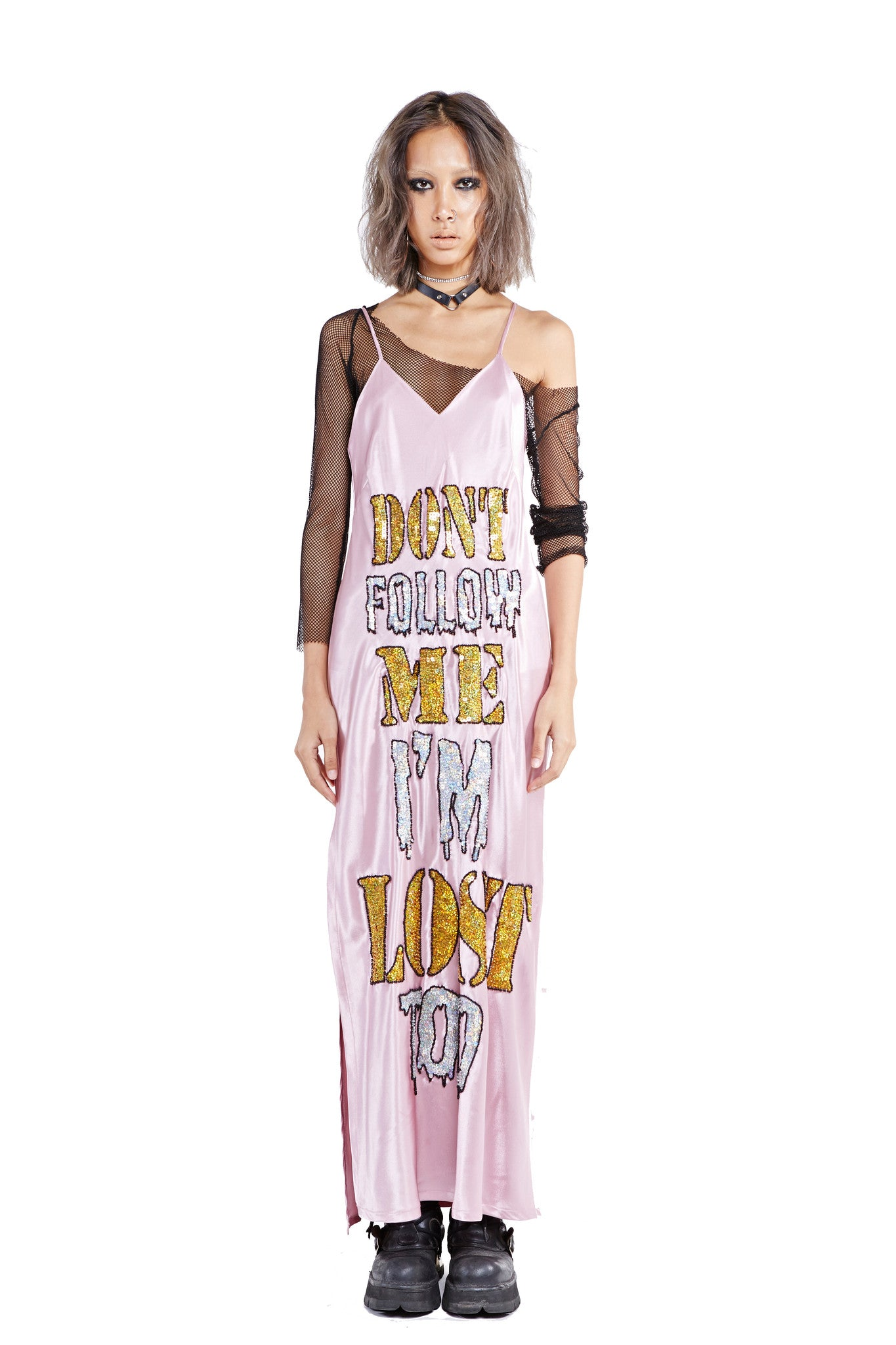 Lost Slip Dress - Pink