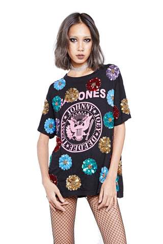 Flower Power Tour Tee - the Ramones