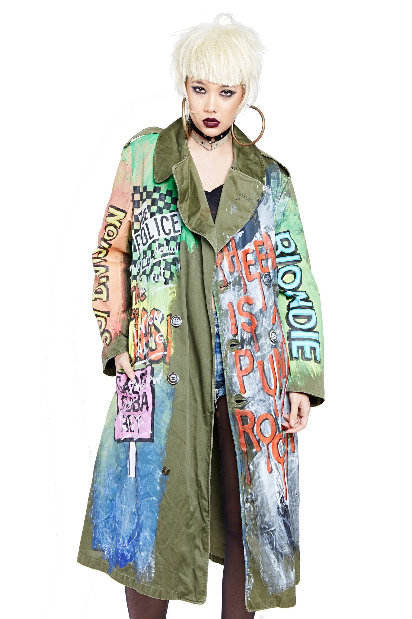 Punk Rocker Military Trench Coat