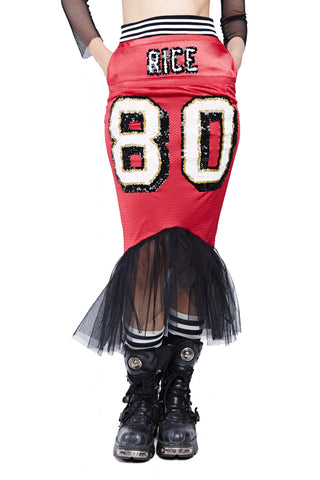 Mermaid Football Skirt - Raiders