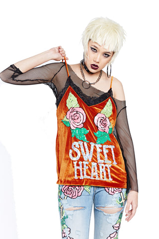 Sweet Heart Top - Orange