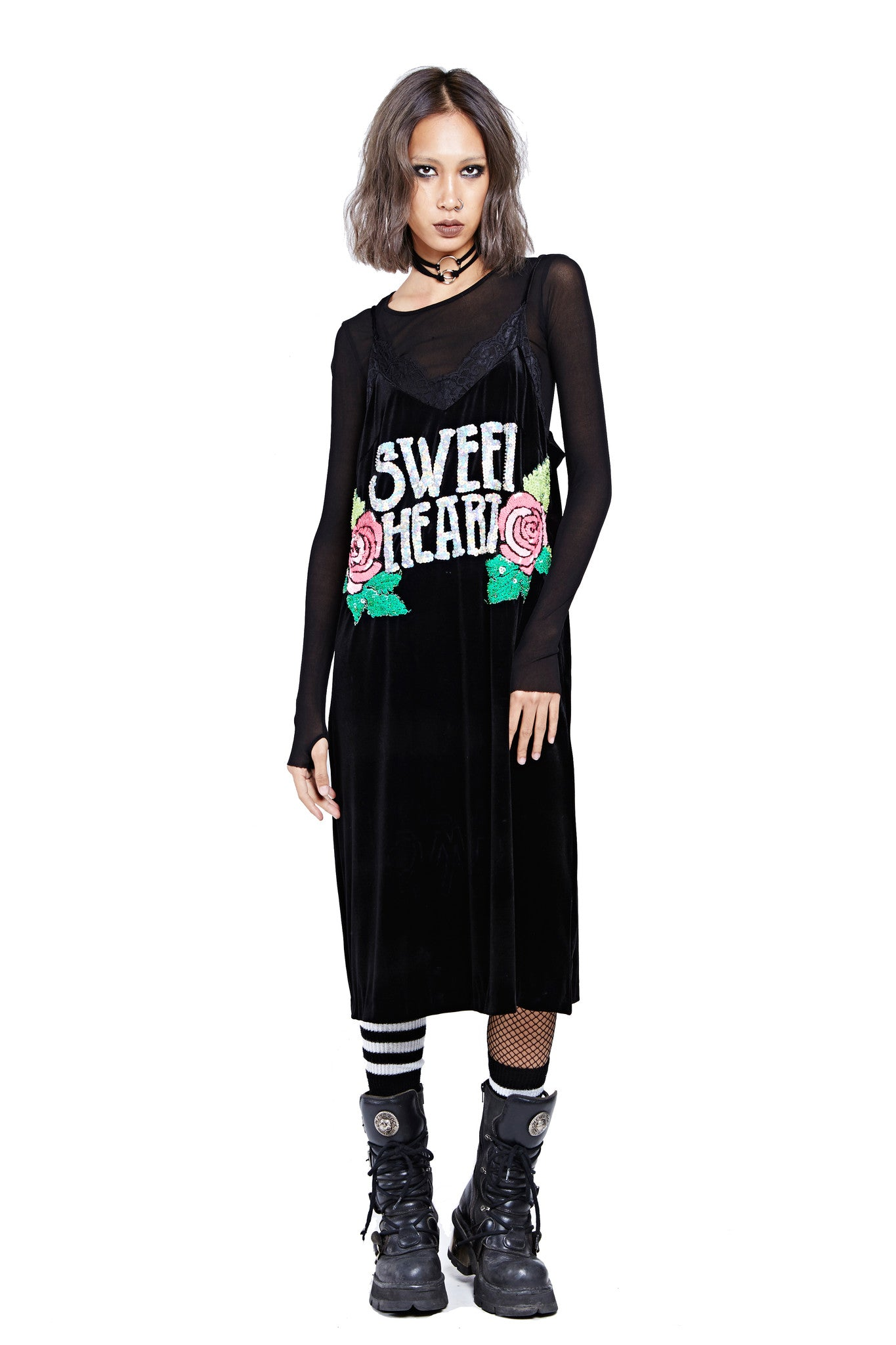 Sweet Heart Dress - Black