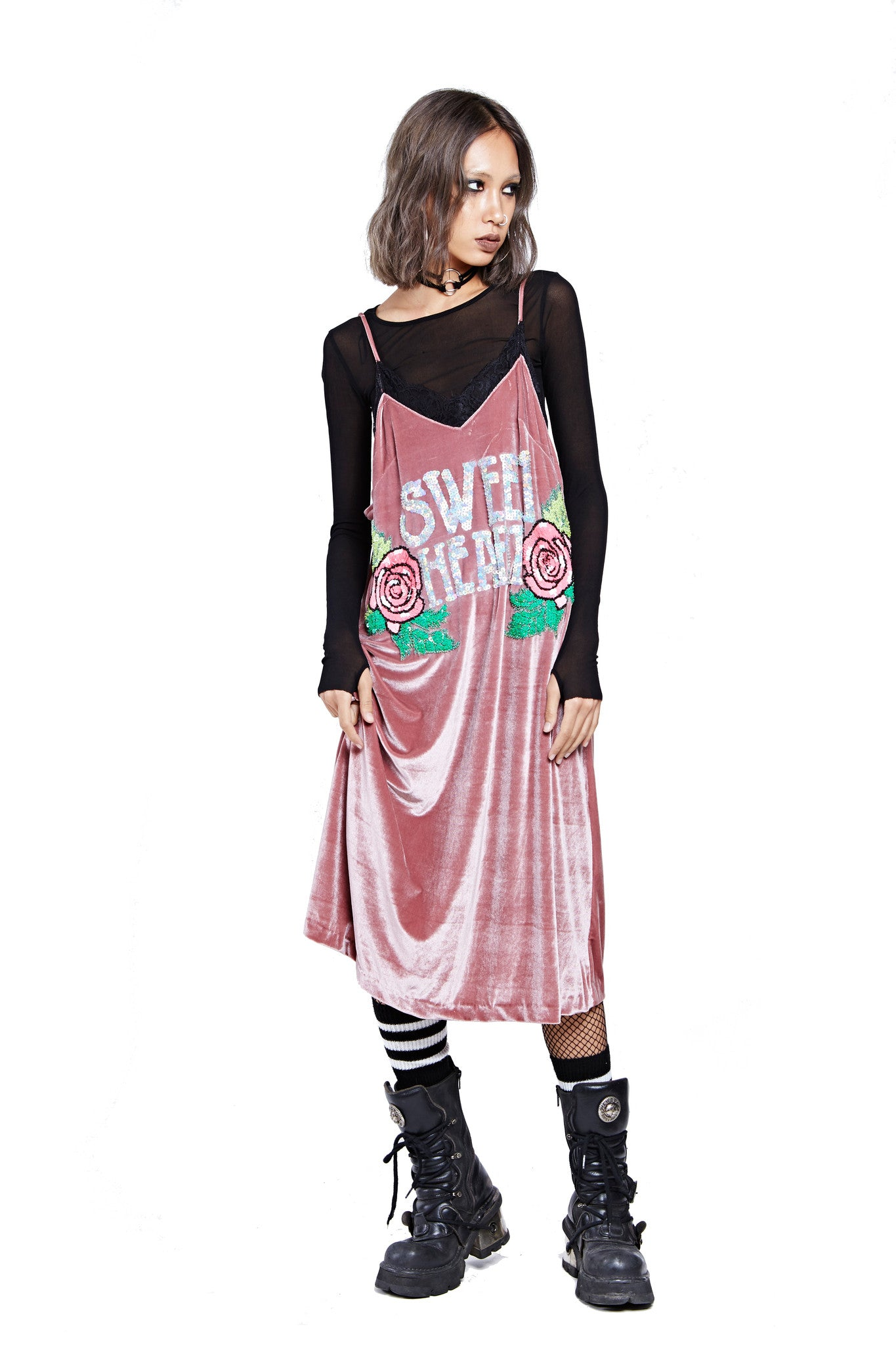 Sweet Heart Dress - Pink