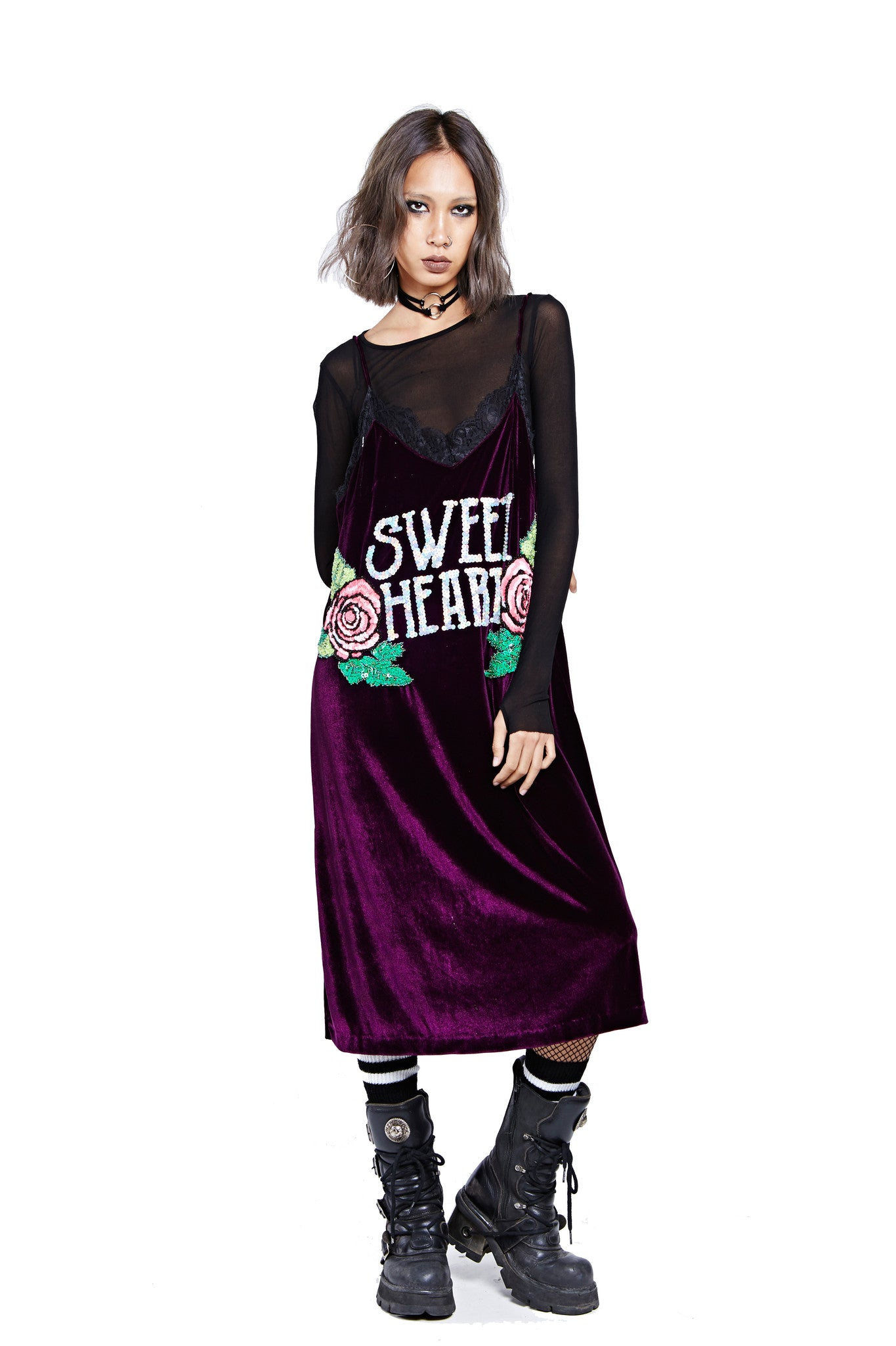 Sweet Heart Dress - Purple