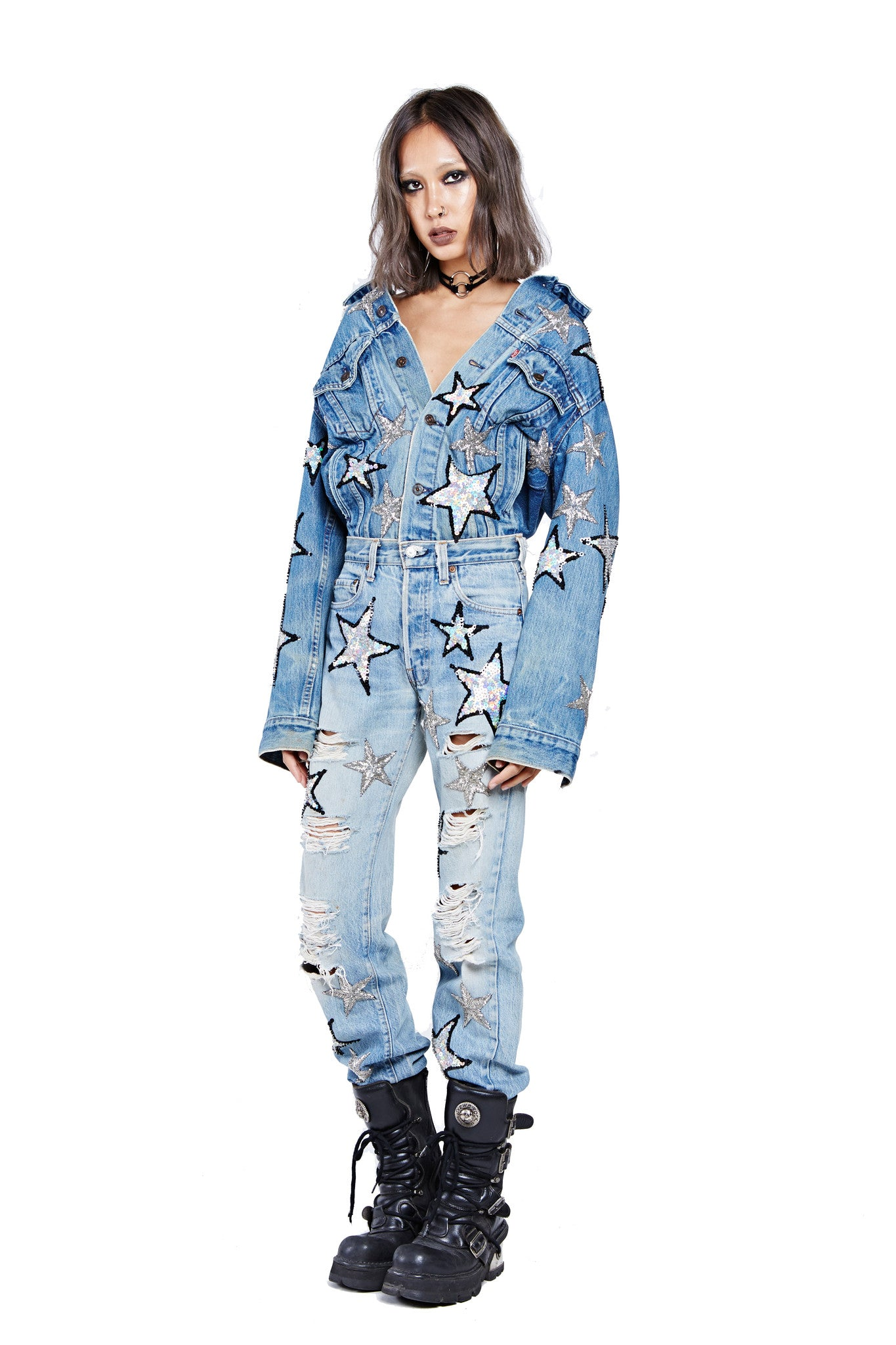 Shine for Me Denim Jumpsuit Preorder