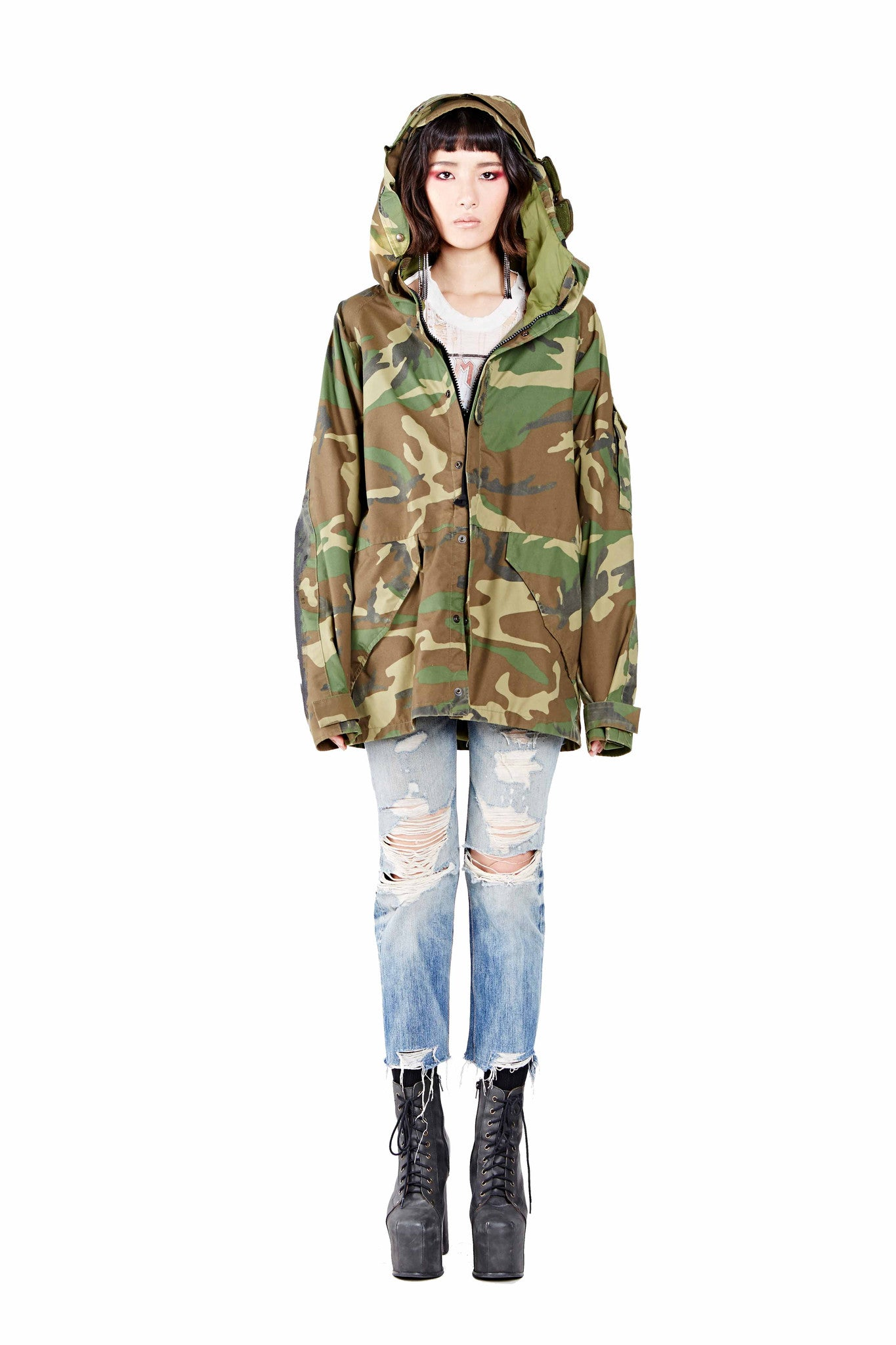 Army Rock Parka - Green Camo - I LOVE DIY by Panida