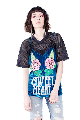 Sweet Heart Top - Green Blue