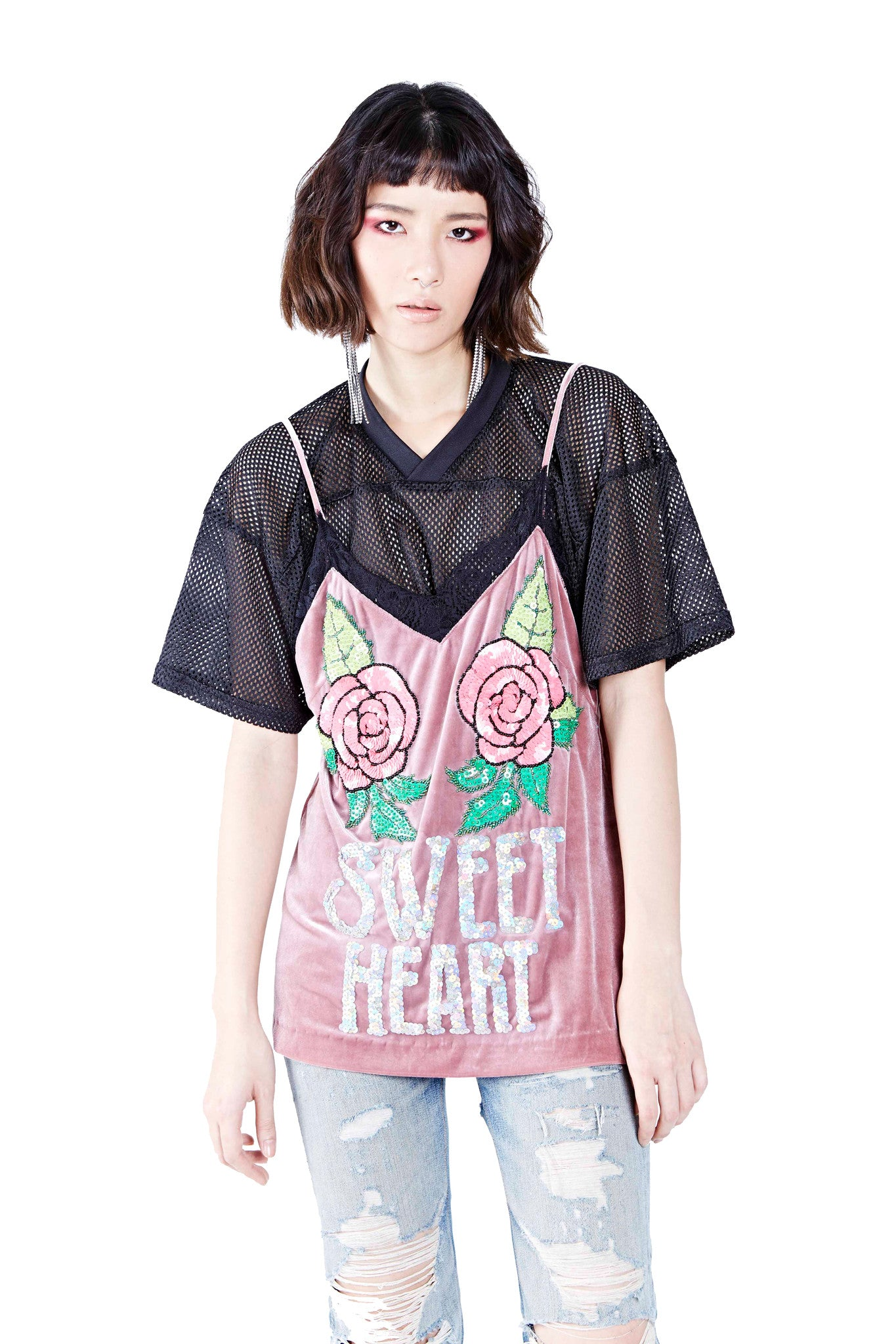 Sweet Heart Top - Pink - I LOVE DIY by Panida