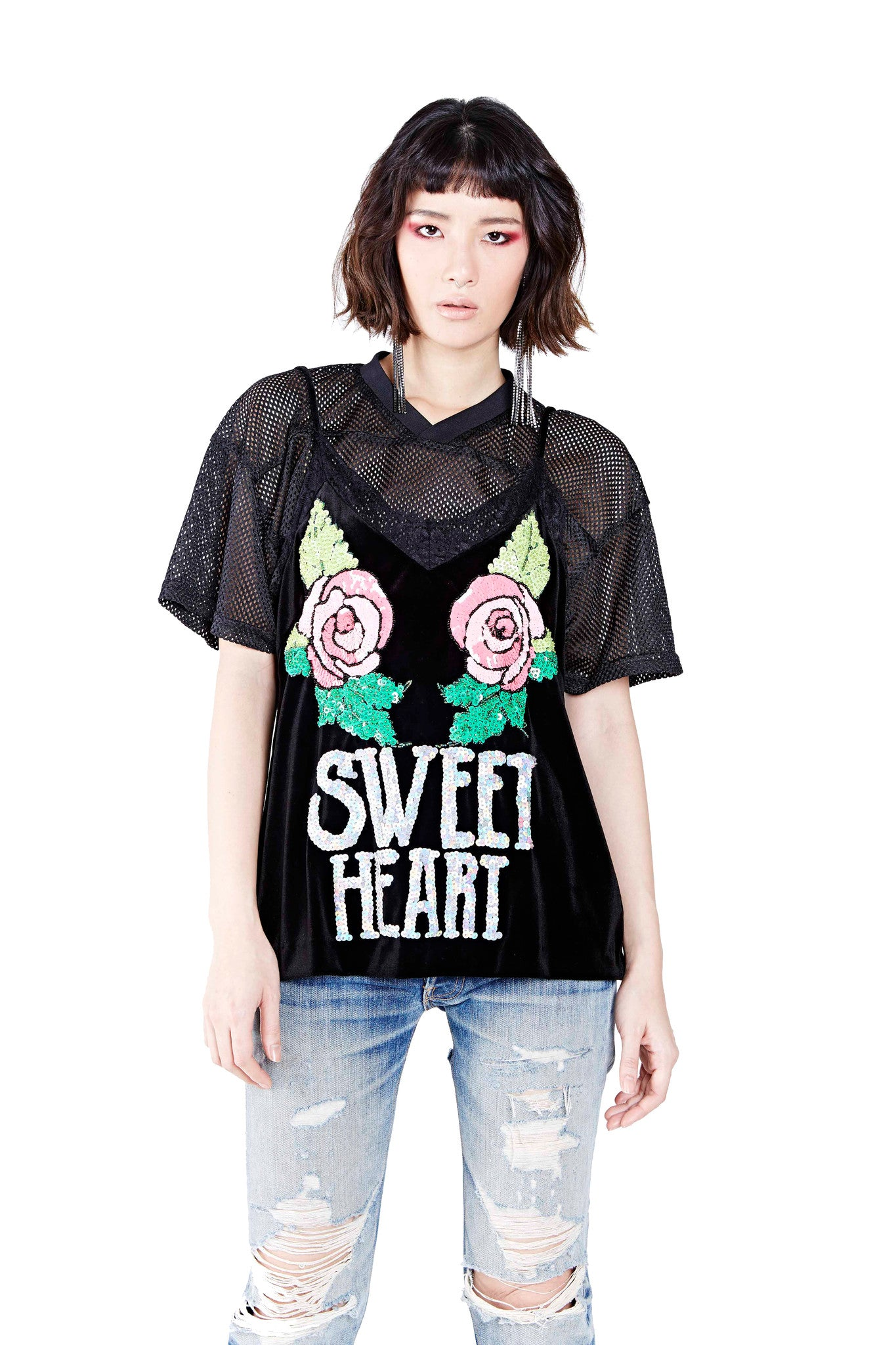 Sweet Heart Top - Black