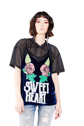 Sweet Heart Top - Blue - I LOVE DIY by Panida