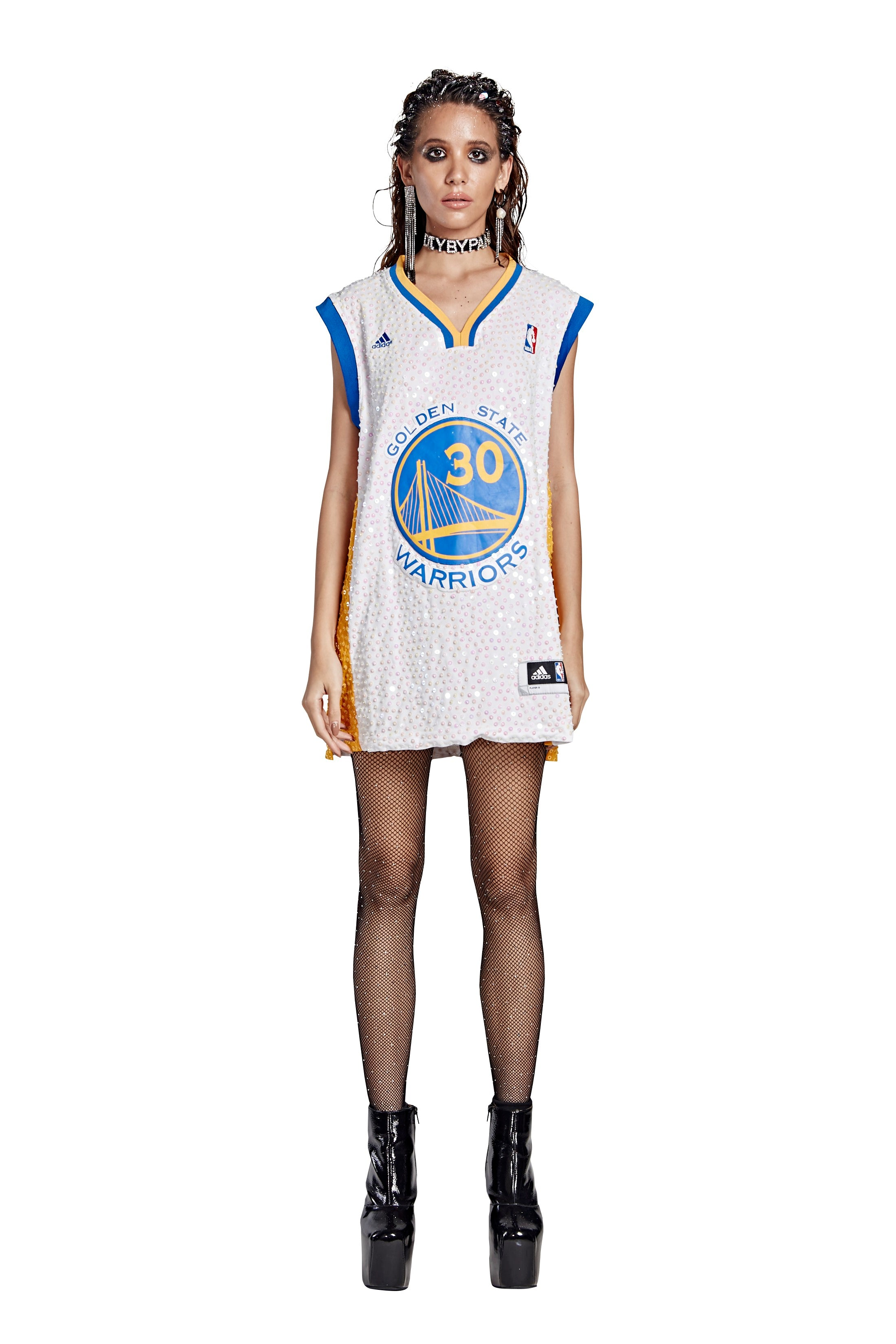 Golden State Warriors '30' Curry Thorn Jersey Mod - White - I LOVE DIY by Panida