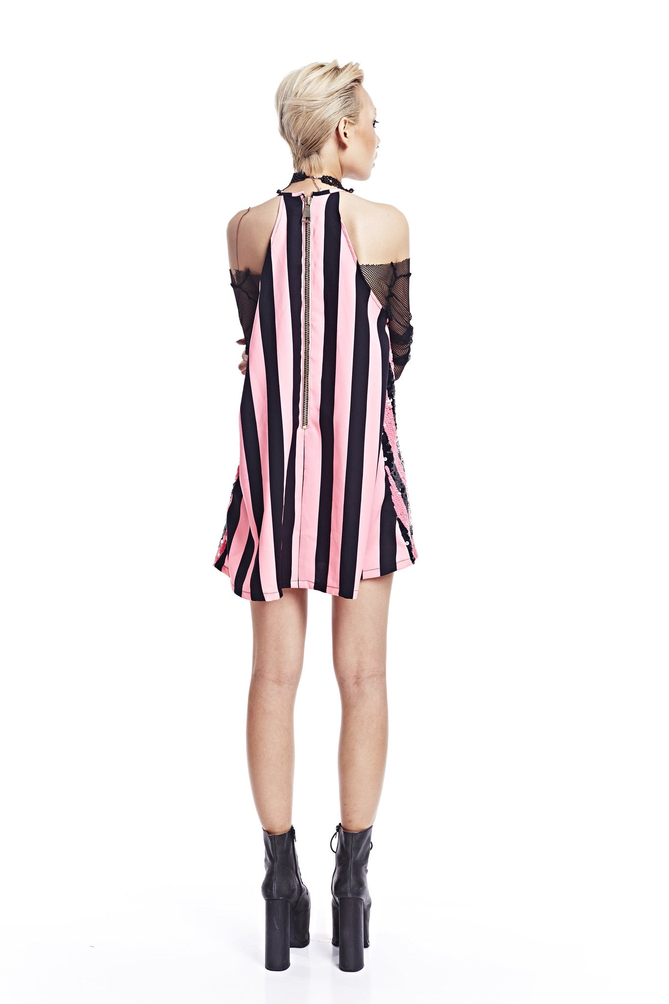 Striped Dress - Pink