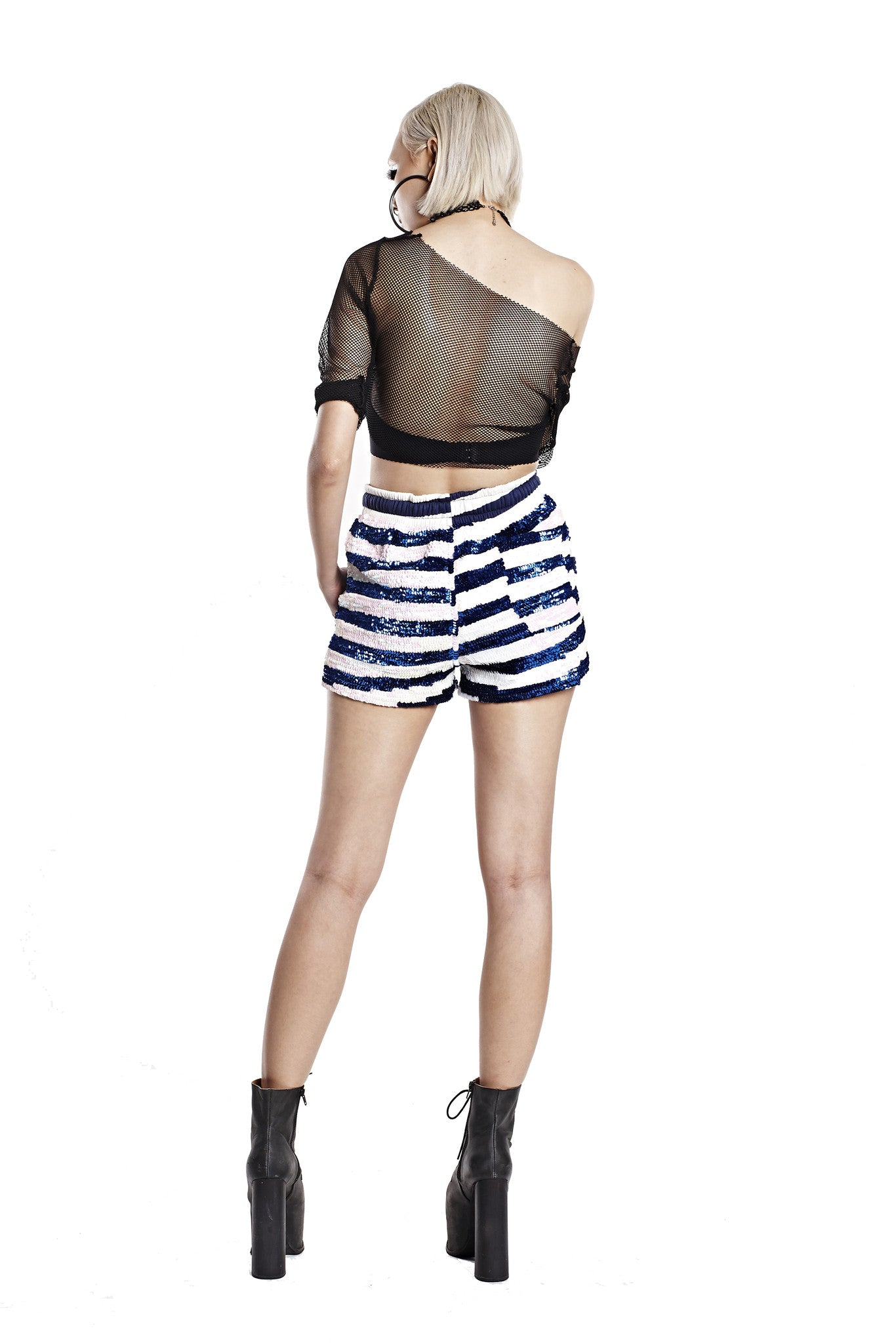 Striped Sequin Shorts