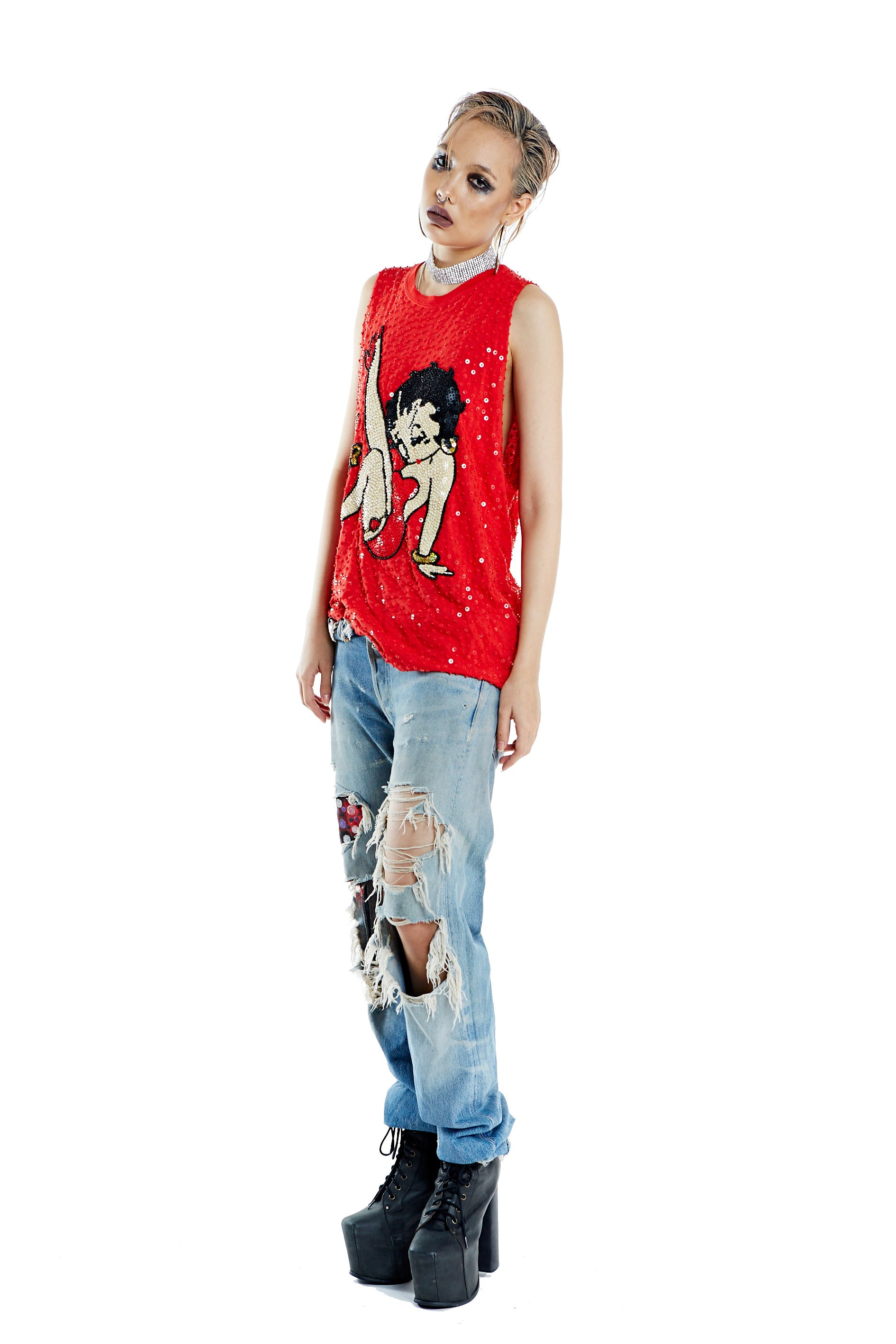 Betty Boop Tank - Red