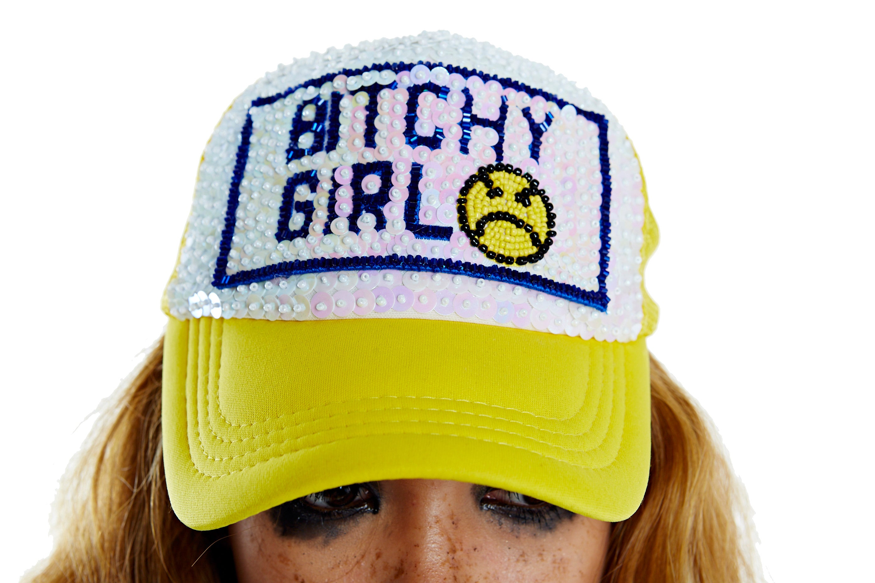 BITCHY GIRL Hat - Yellow