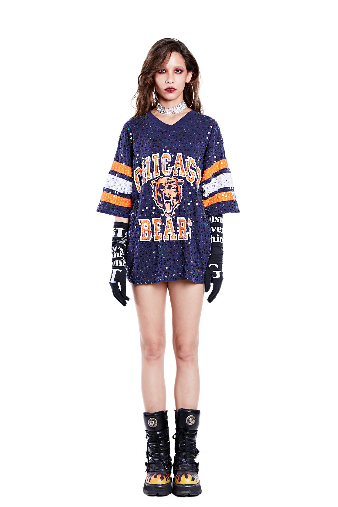 American Football Jersey Top - Chicago Bears - I LOVE DIY by Panida