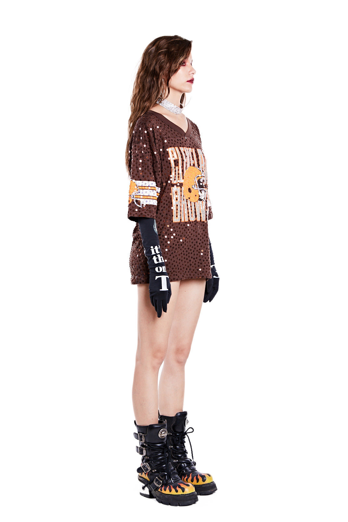 American Football Jersey Top - Cleveland Browns - I LOVE DIY by Panida