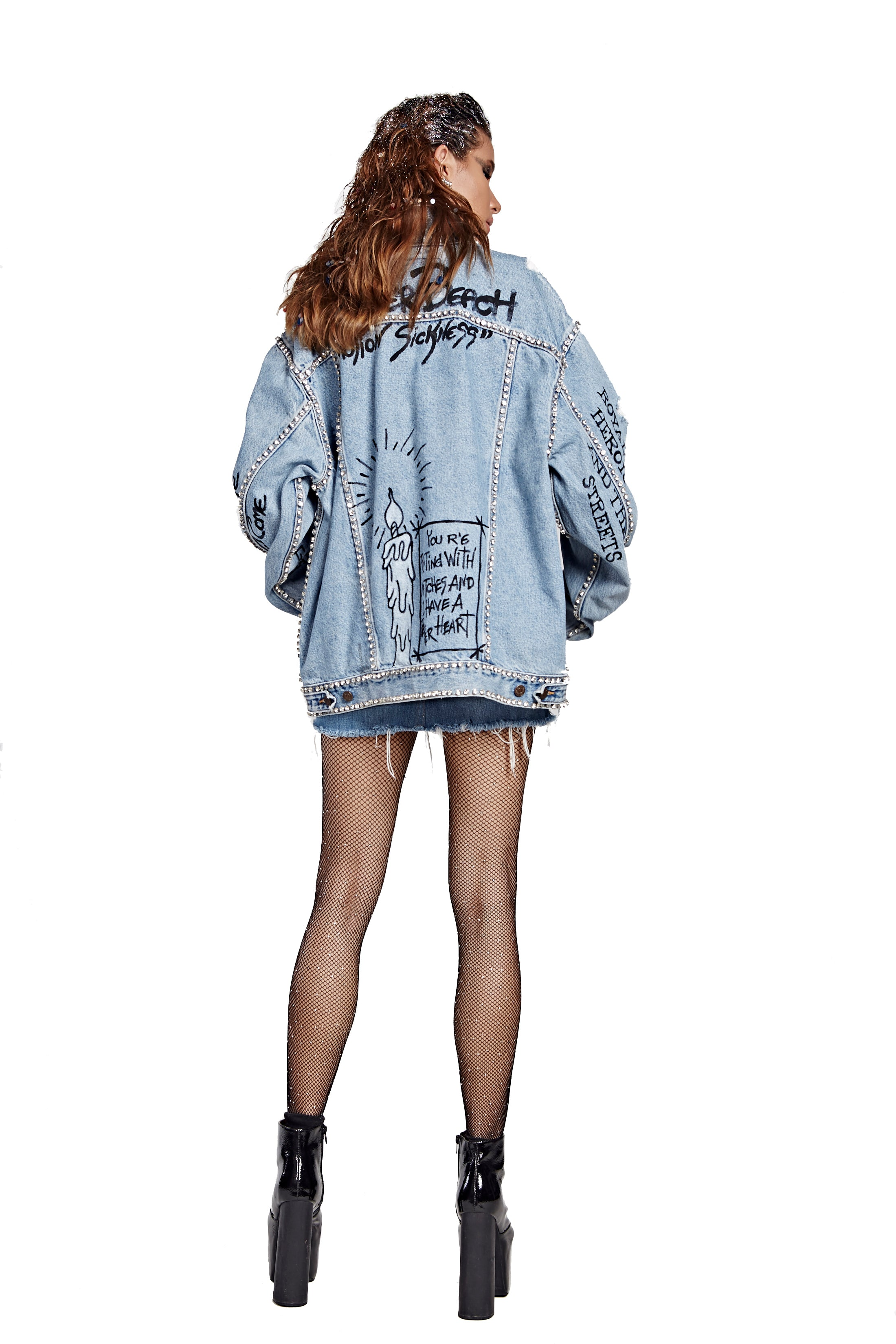 Diamond Denim Jacket - I LOVE DIY by Panida