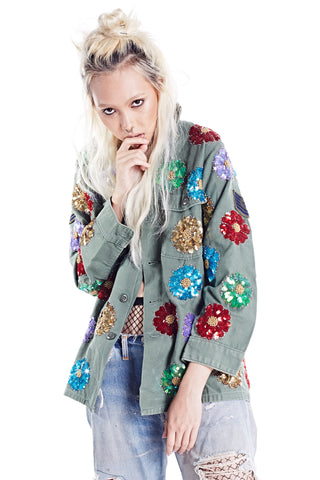 Rainbow Denim Jacket