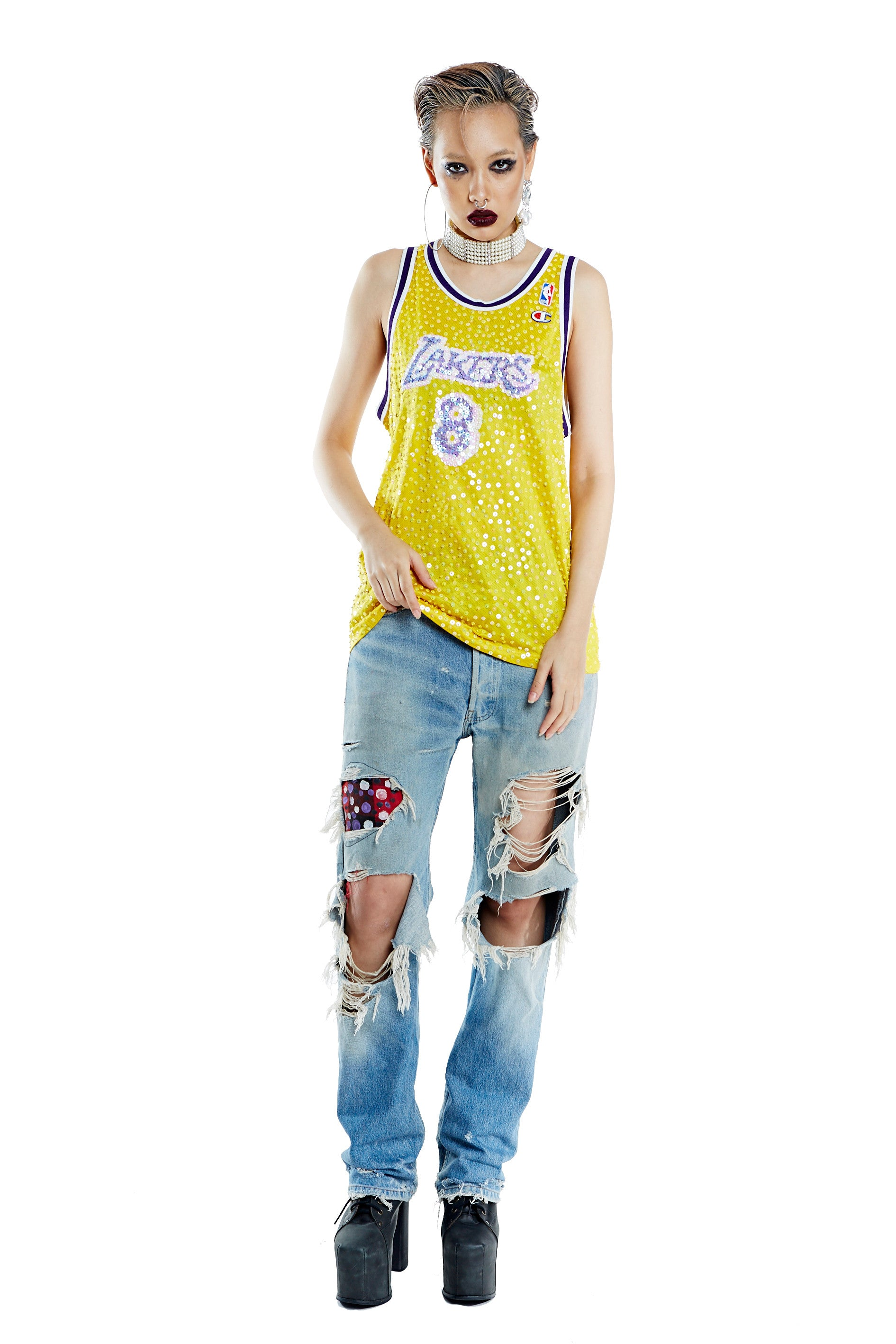 Lakers Yellow Jersey - '8' - I LOVE DIY by Panida
