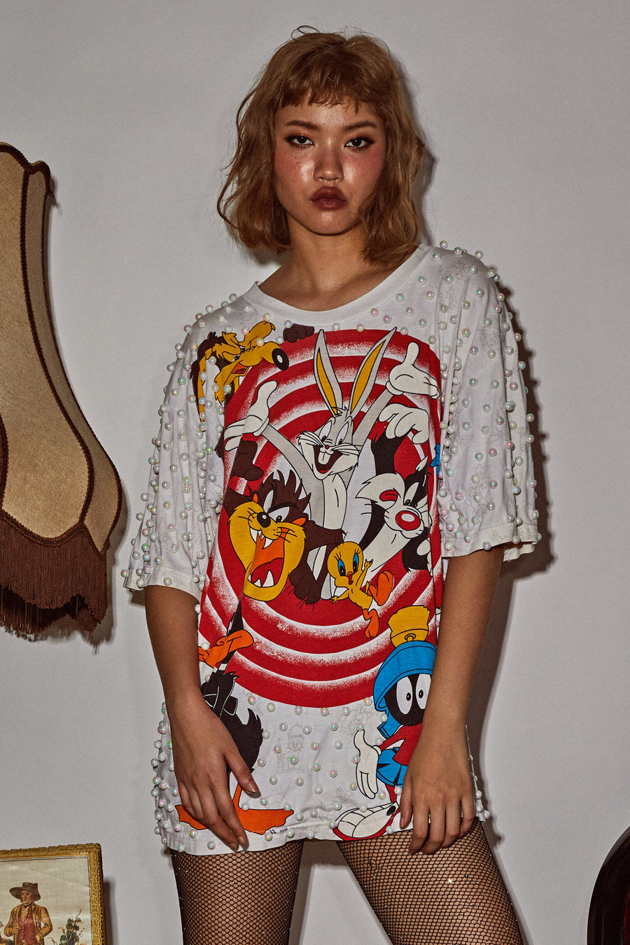 Looney Tunes Top - White (2) - I LOVE DIY by Panida