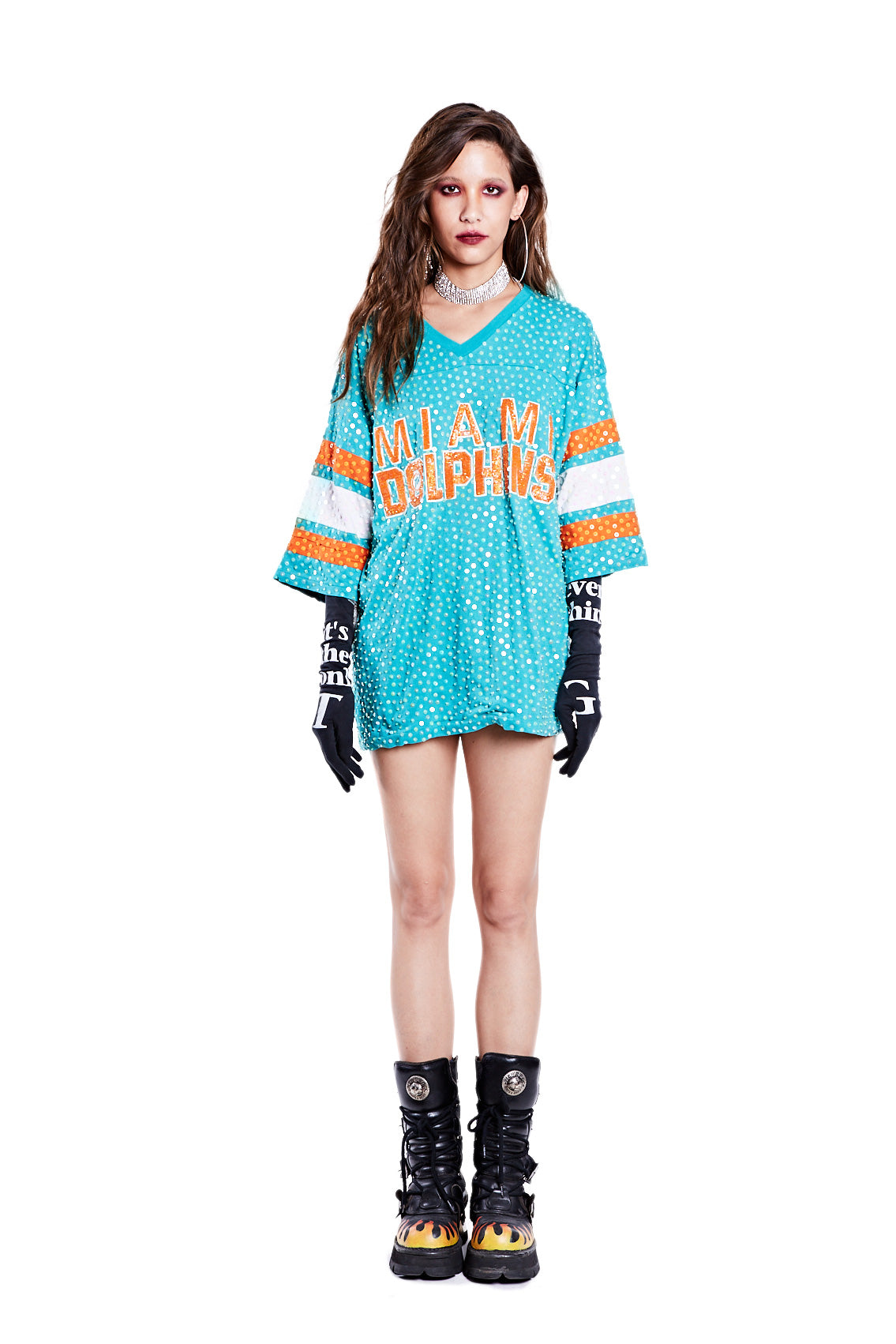 American Football Jersey Top - Miami Dolphins - I LOVE DIY by Panida