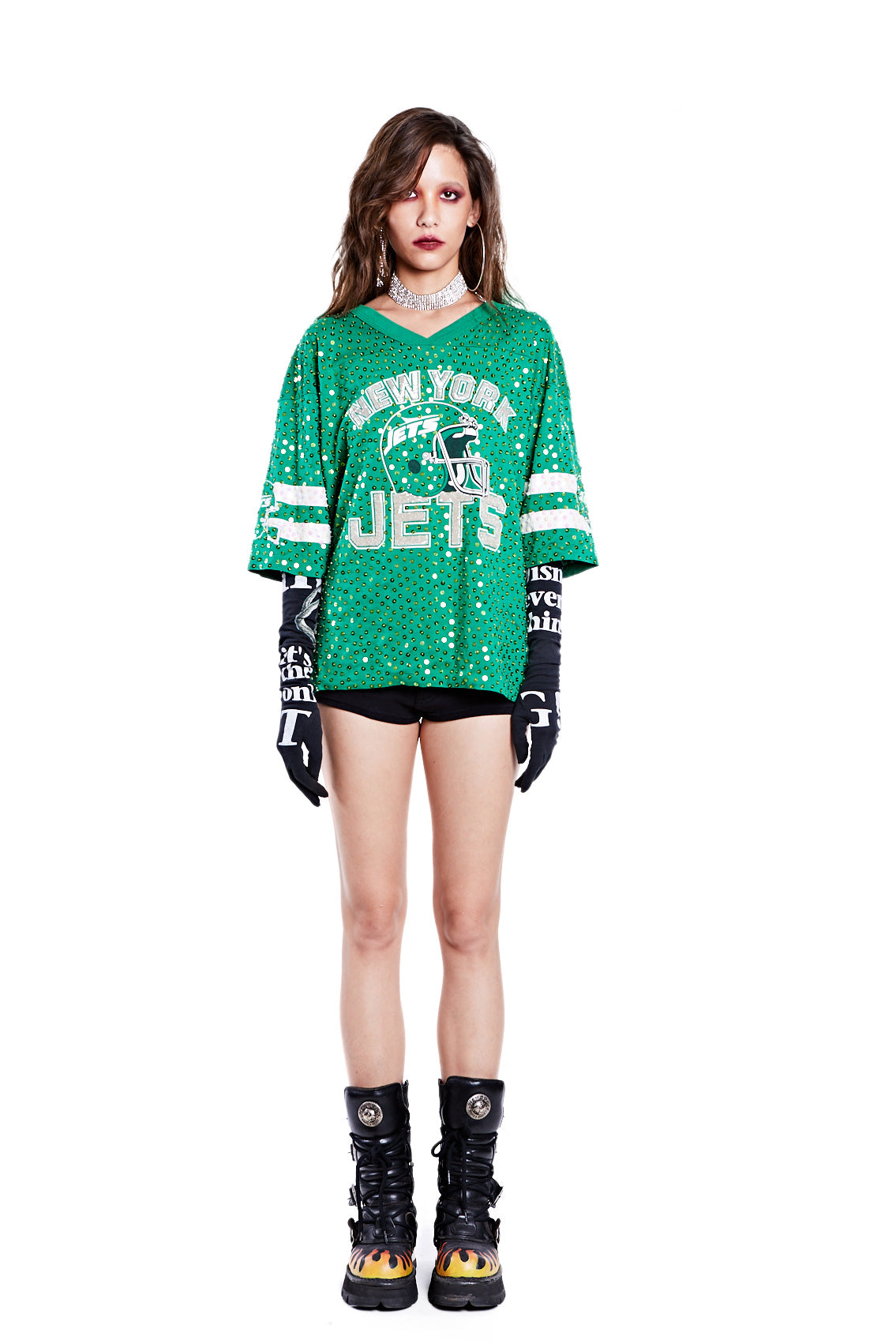 American Football Jersey Top - New York Jets - I LOVE DIY by Panida