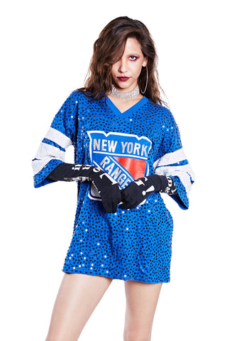 American Football Jersey Top - New York Rangers - I LOVE DIY by Panida