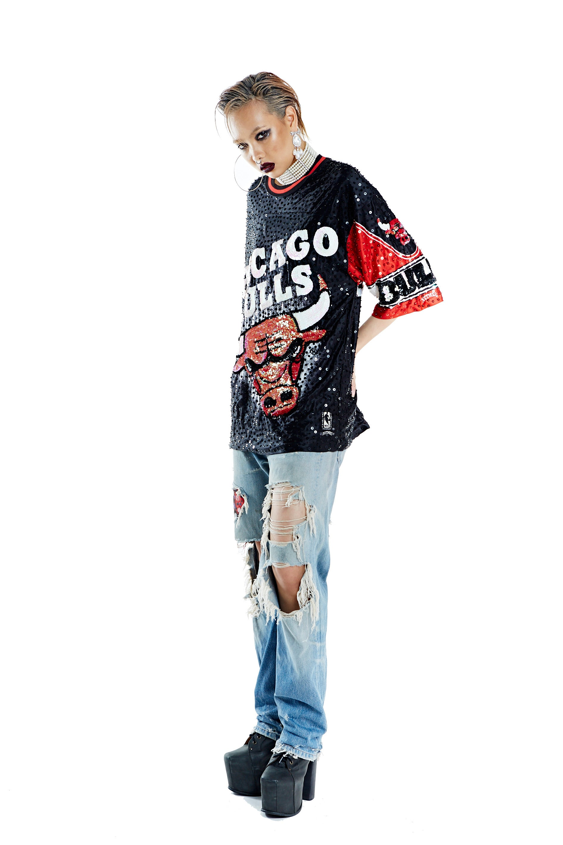 Chicago Bulls Nutmeg Mills Mod Top - I LOVE DIY by Panida