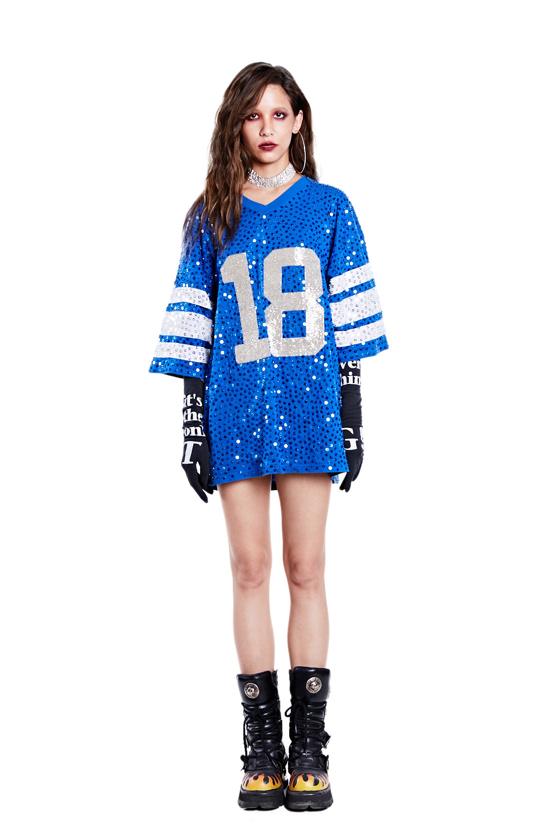 American Football Jersey Top - Peyton Manning '18' - I LOVE DIY by Panida