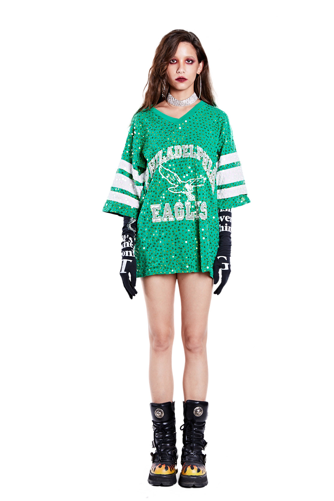 American Football Jersey Top - Philadelphia Eagles (2) - I LOVE DIY by Panida
