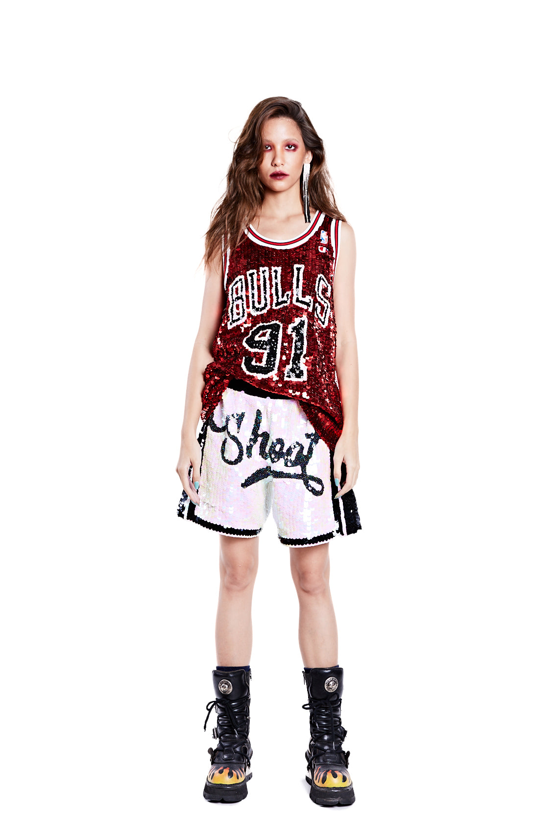 Chicago Bulls '91' Rodman Jersey Red - I LOVE DIY by Panida