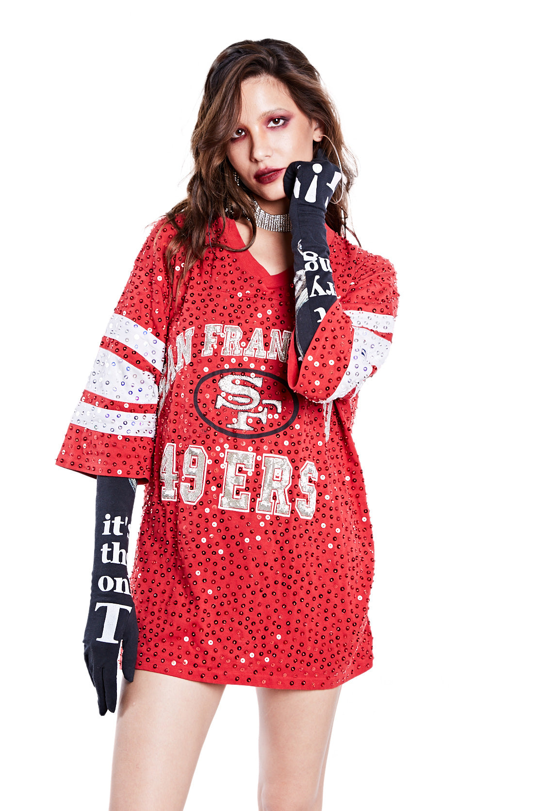 American Football Jersey Top - San Francisco 49ers - I LOVE DIY by Panida