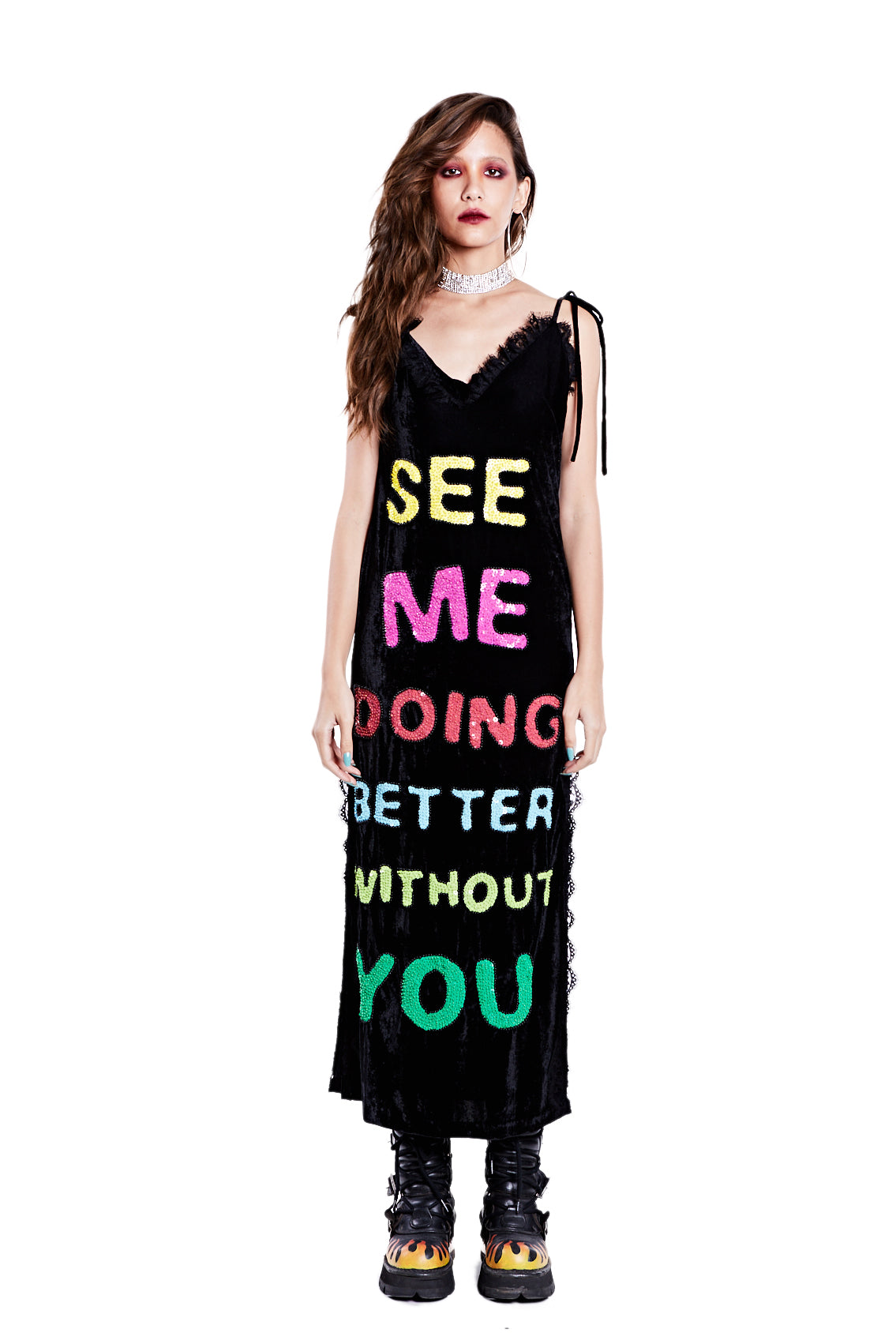 Better Without You Dress - Black - I LOVE DIY by Panida
