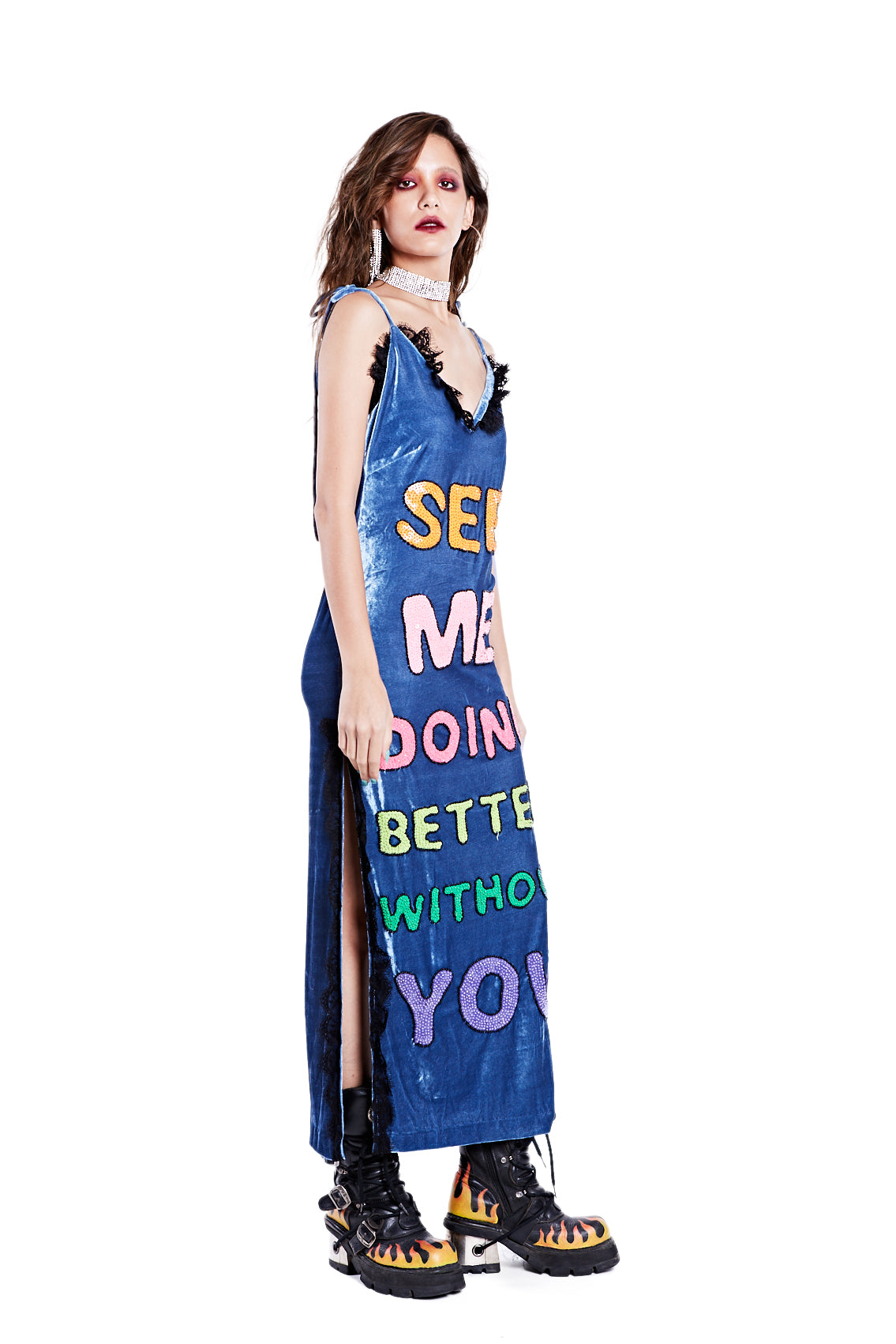 Better Without You Dress - Blue - I LOVE DIY by Panida